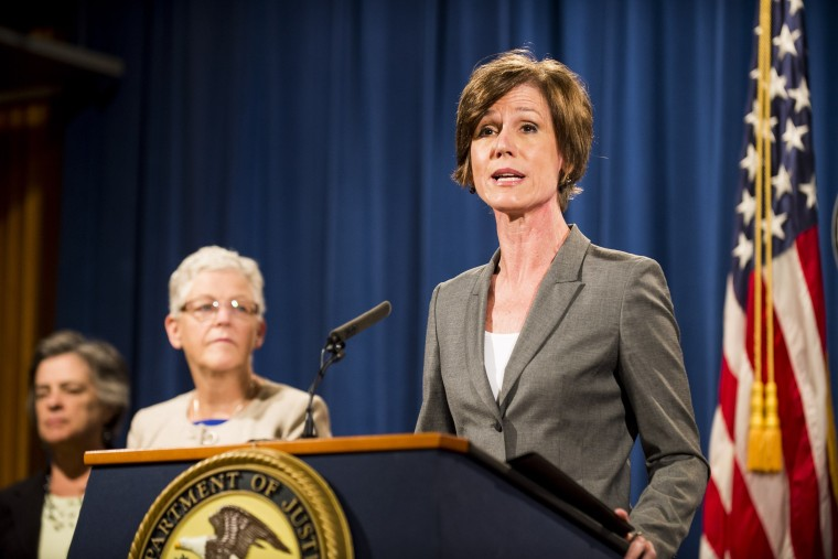 Image: FILE: Acting Attorney General Orders Justice Department Not To Defend Executive Order On Immigration