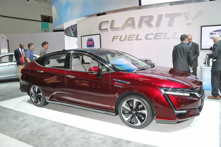 The recently launched Honda Clarity FCX fuel-cell vehicle.