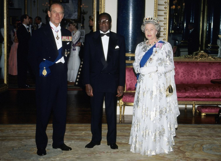 Image: Robert Mugabe of Zimbabwe visit to the UK