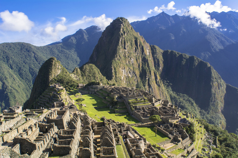 Latin America, Cusco Region, Peru, Remains of Machu Picchu