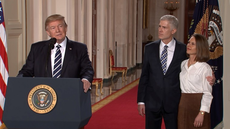 Image: President Donald Trump nominates Judge Neil Gorsuch as his Supreme Court nominee in Washington D.C. on Jan. 31.