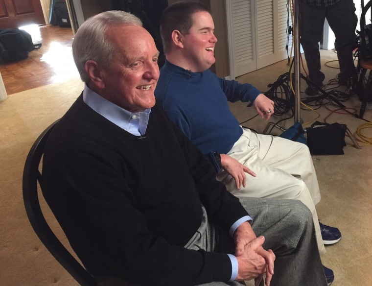 Jim Bradford (left) and HK Derryberry (right) speak to NBC News.