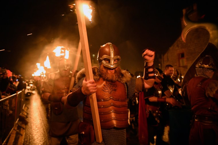 Image: The 2017 Up Helly Aa Takes Place In The Shetland Islands
