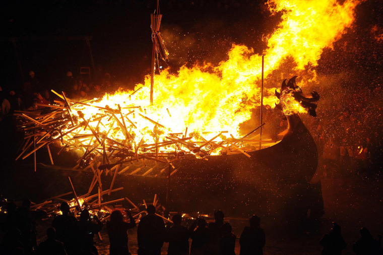 Image: The 2017 Up Helly Aa Takes Place In The Shetland Island