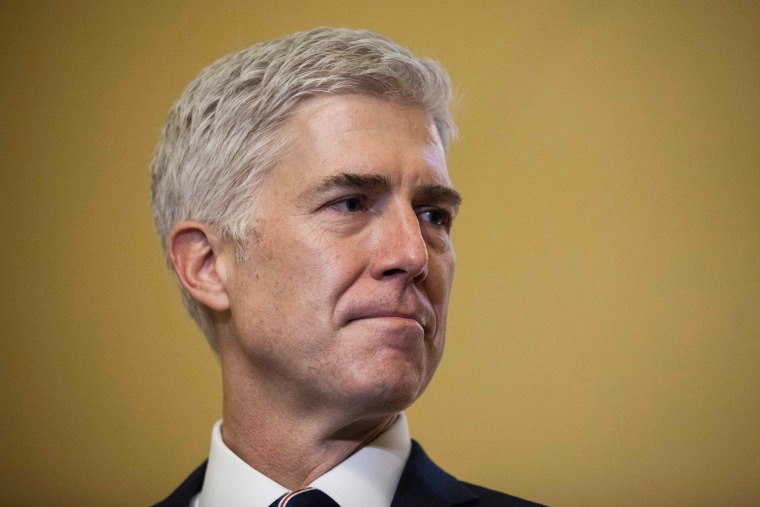 Image: Supreme Court Nominee Neil Gorsuch is pictured during a meeting on Capitol Hill in Washington, D.C., on Feb. 1, 2017.