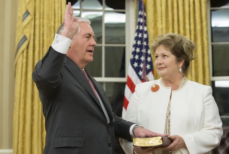 Image: Rex Tillerson Sworn In as 69th U.S. Secretary of State