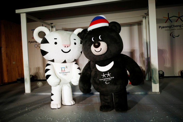 Image: The mascots for the 2018 PyeongChang Winter Olympics