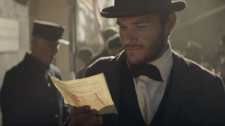 A scene from the Budweiser's Super Bowl 51 advertisement spot. Beer company Anheuser-Busch, which is a mainstay in the pricey Super Bowl advertising sweepstakes, will air an ad about the inspirational journey of its co-founder -- Adolphus Busch -- from Germany to St. Louis.