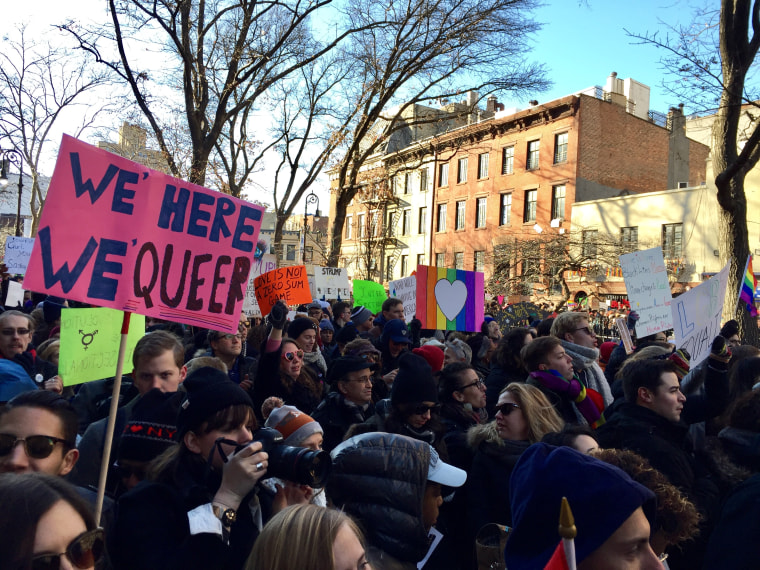 IMAGE: New York LBGTQ protest