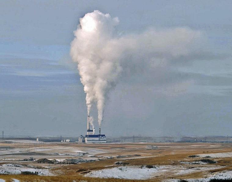 Image: A coal-fired power plant near Center, North Dakota, in 2008