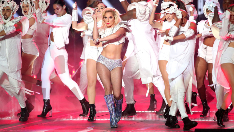 Musician Lady Gaga performs during the Super Bowl LI Halftime Show