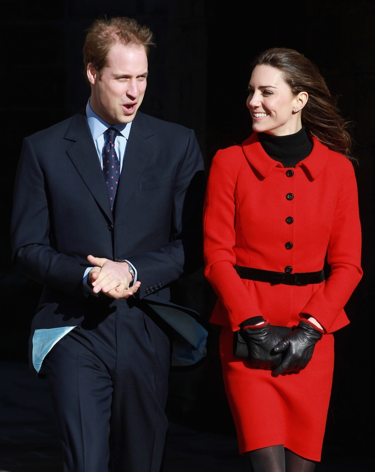 Prince William And Kate Middleton red suit University Of St Andrews