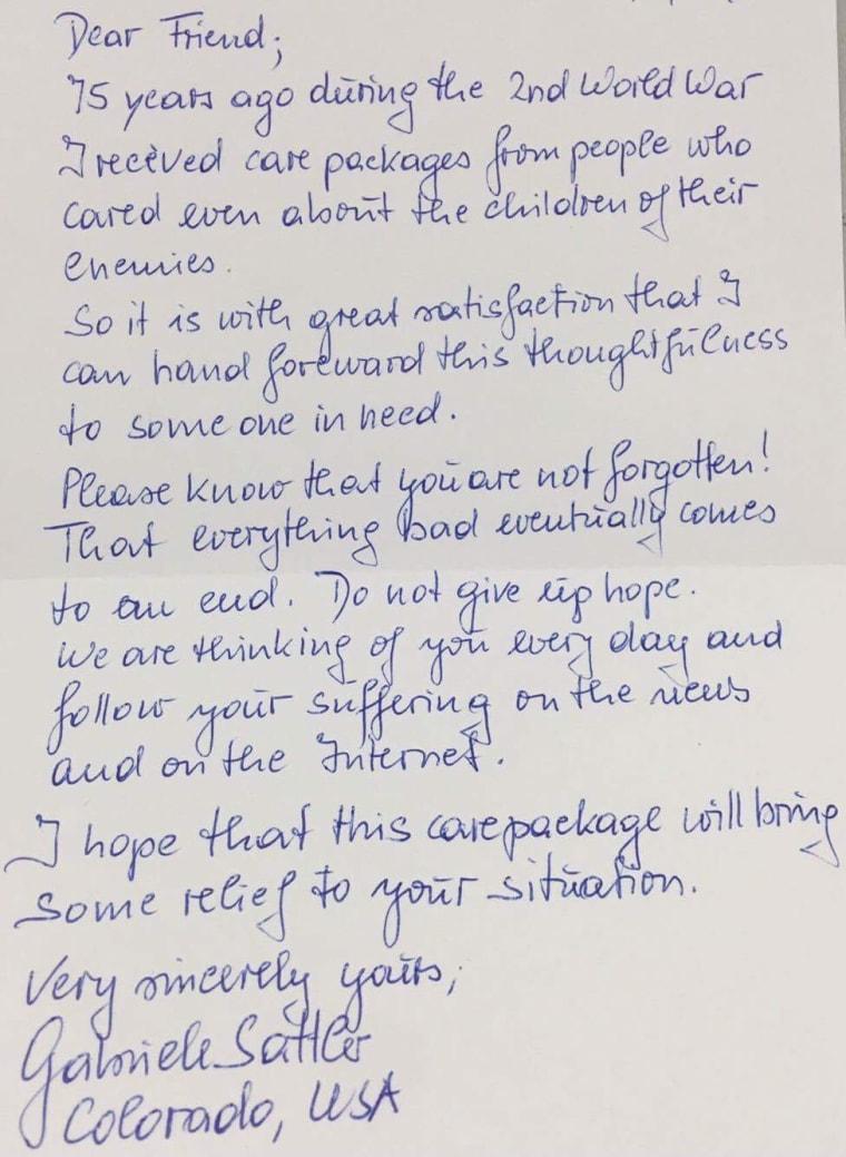 refugee child letters