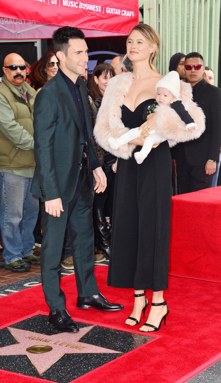 Adam Levine Star Ceremony Los Angeles