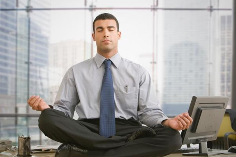 Image: meditate in office