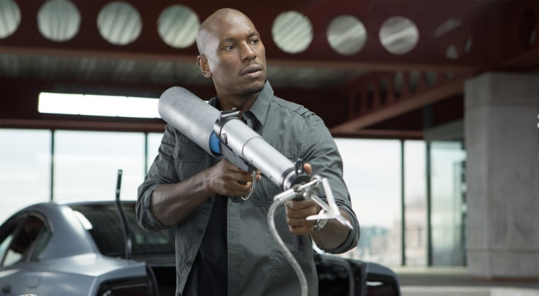Tyrese Gibson as Roman Pearce in Fast and Furious 6.