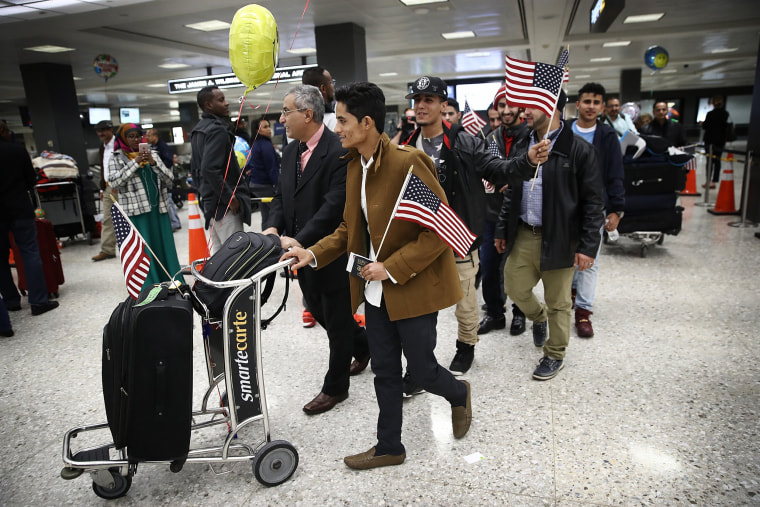 Image: The Aziz brothers arrive from Yemen at Dulles International airport