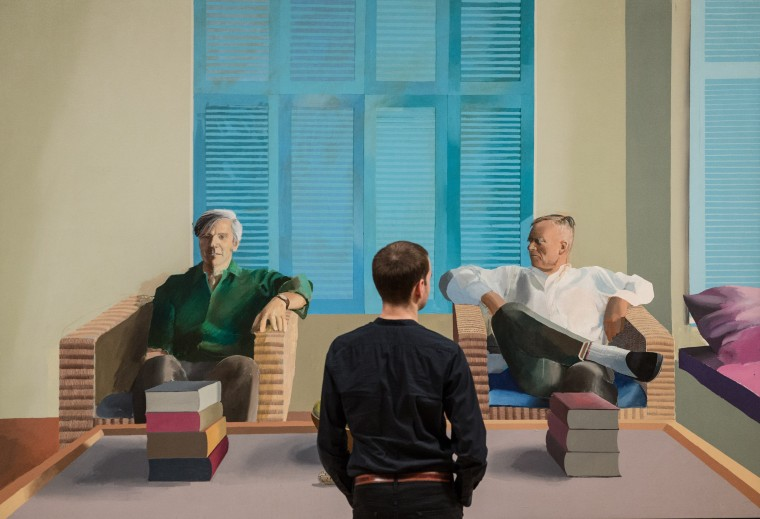 Image: David Hockney Retrospective, Tate Britain, London, Britain - 06 Feb 2017