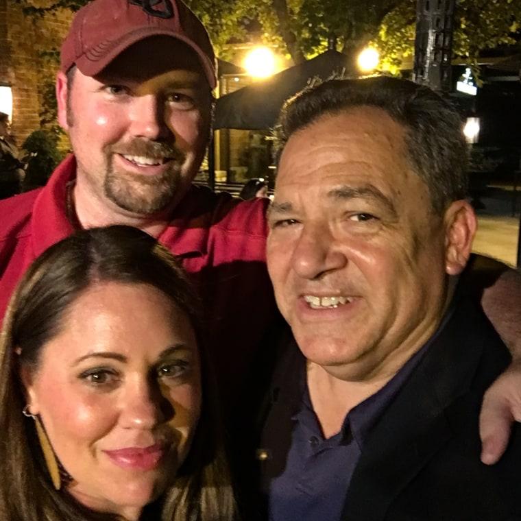 Melanie Hutchnson, her husband Brandon, and Josh Mankiewicz.