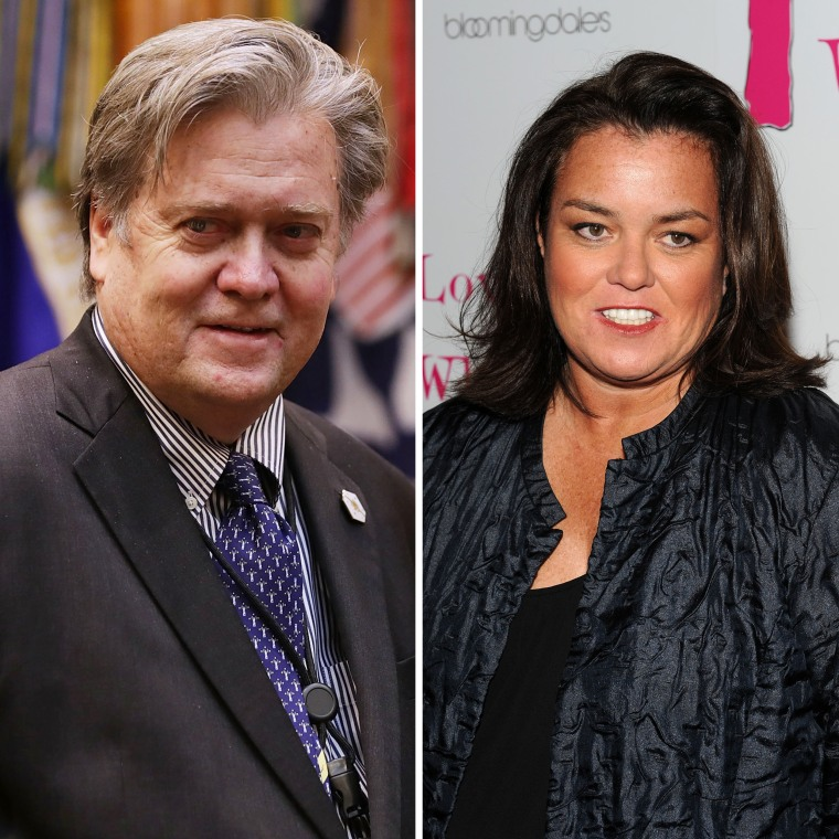 Image: Steve Bannon and Rosie O'Donnell