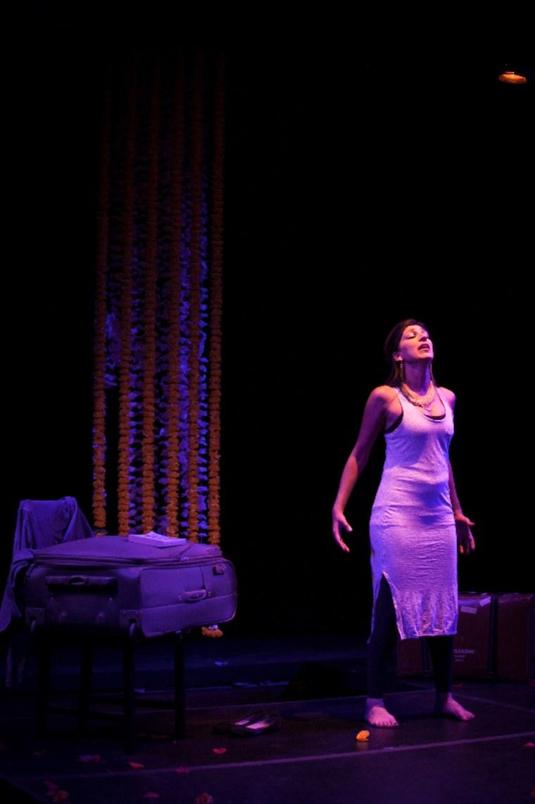 "Minita Gandhi performs her first play, ""MUTHALAND."""