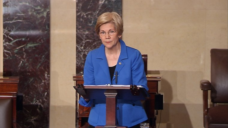Image: Warren is stopped from speaking on the Senate floor during her speech opposing attorney general nominee Sen. Jeff Sessions