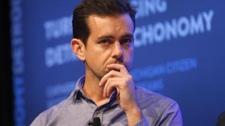 Jack Dorsey, CEO of Twitter and Square.