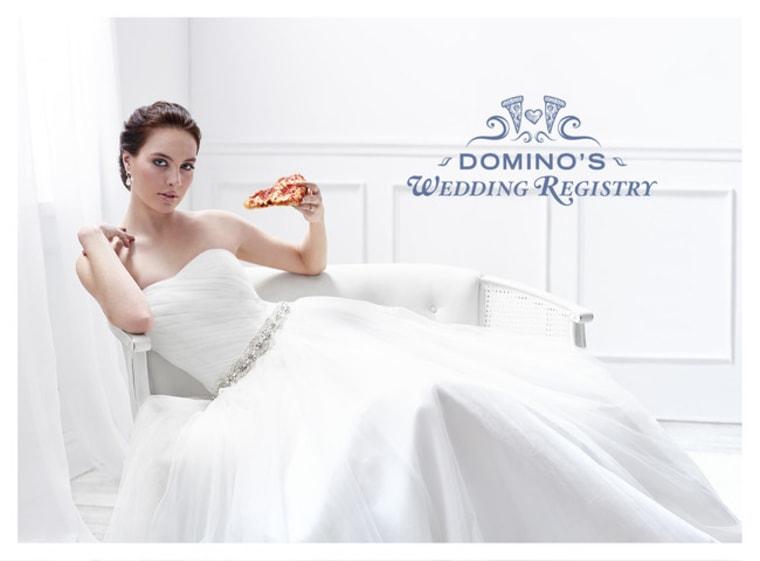 Domino's Pizza new wedding registry site.