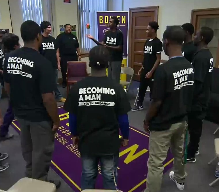 IMAGE: Becoming A Man meeting in Chicago