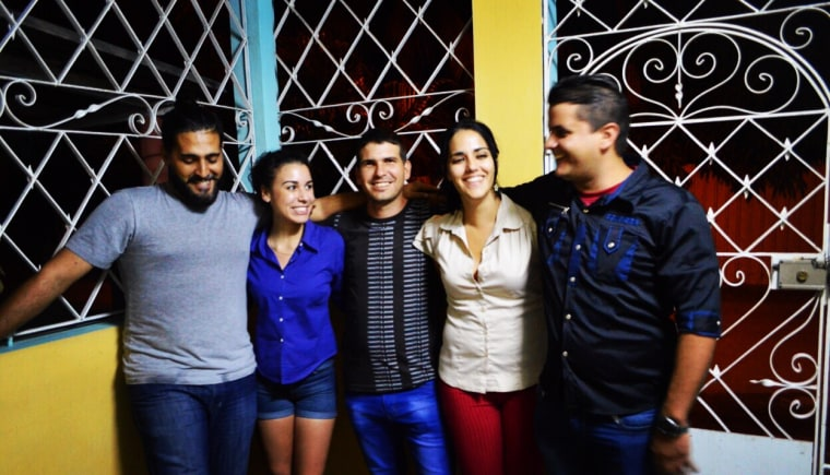 Devyn meets her primos, or cousins for the first time in Havana.