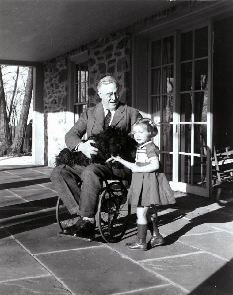 Image: President Franklin D. Roosevelt with his dog Fala