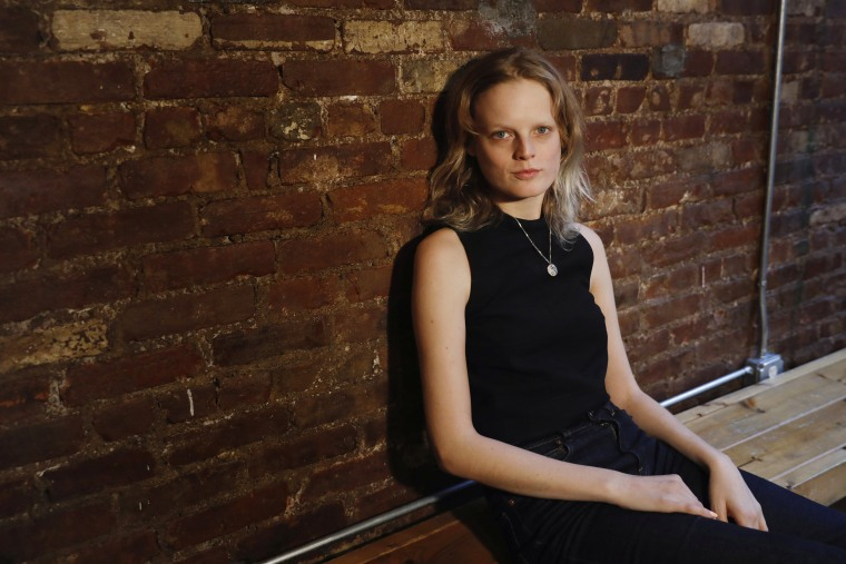 Image: Model Hanne Gaby Odiele poses for a portrait in New York