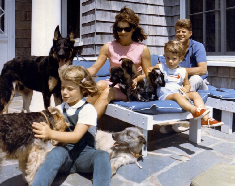 Image: The Kennedy Family vacations with their dogs