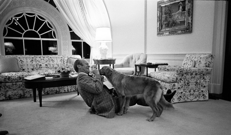 Image: President Ford at Home In The White House