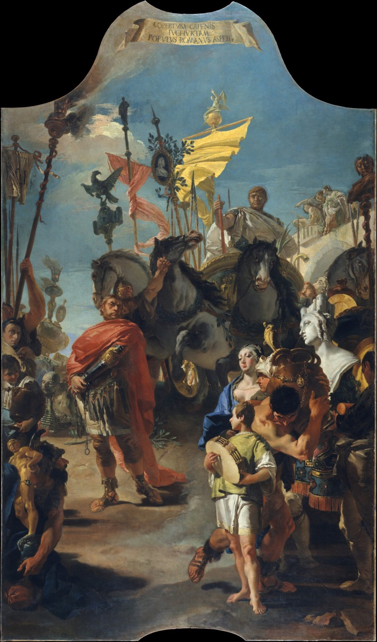 The Triumph of Marius, oil on canvas by Giovanni Battista Tiepolo, 1729.