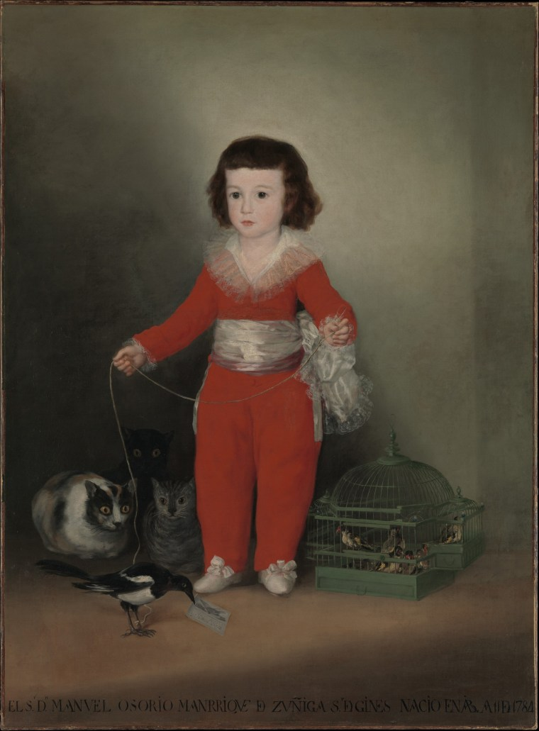 Image: Manuel Osorio Manrique de Zu?iga (1784-1792), oil on canvas by Goya, 1787-88.