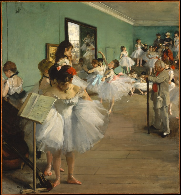 Image: The Dance Class, oil on canvas by Edgar Degas, 1874.