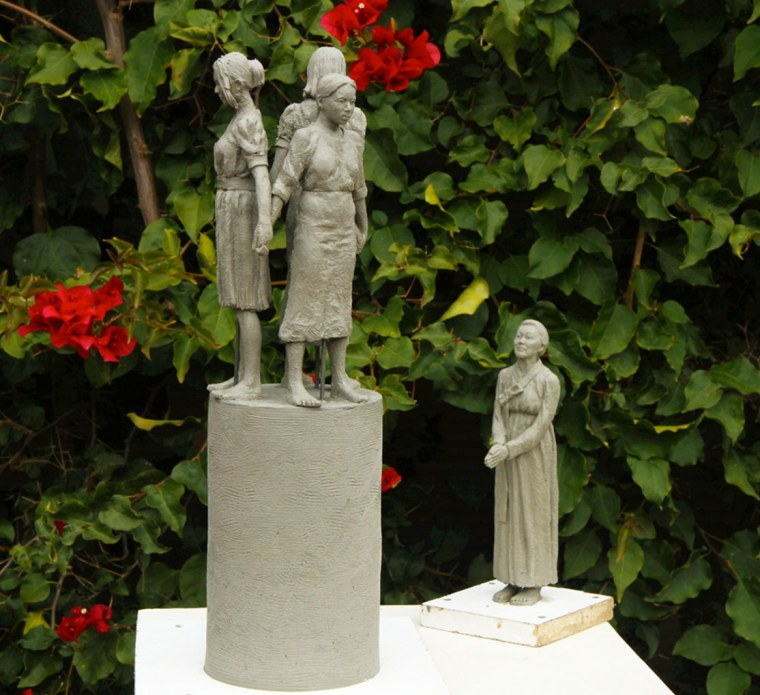 A mock up of artist Steven Whyte's sculpture selected for San Francisco's comfort women memorial.