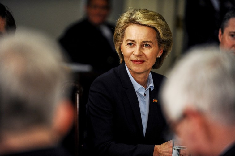Image: German Defense Minister Ursula von der Leyen attends a meeting with U.S. Defense Secretary Jim Mattis at the Pentagon in Arlington, Virginia on Feb. 10.