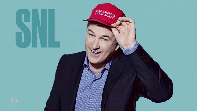 "Promotional shot of Alec Baldwin hosting ""Saturday Night Live"" on Feb. 11."