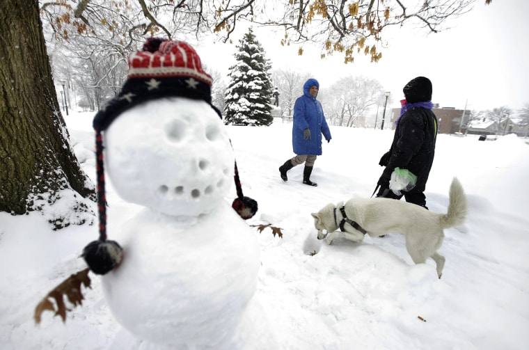 Image: Snowman in Waltham, Massachusetts