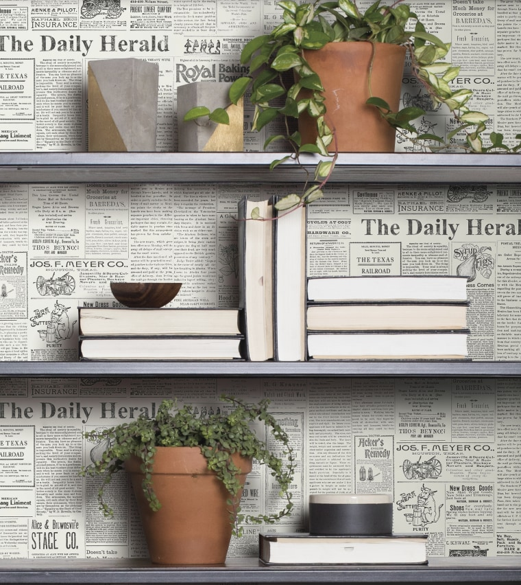 The Daily: Archival newsprint from an actual 1930s paper brings a bit of small town to any home.