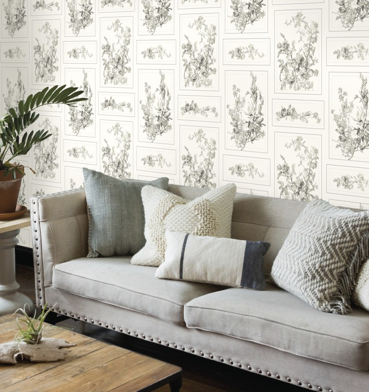 Magnolia: This romantic illustration brings a classic floral feel to a space.