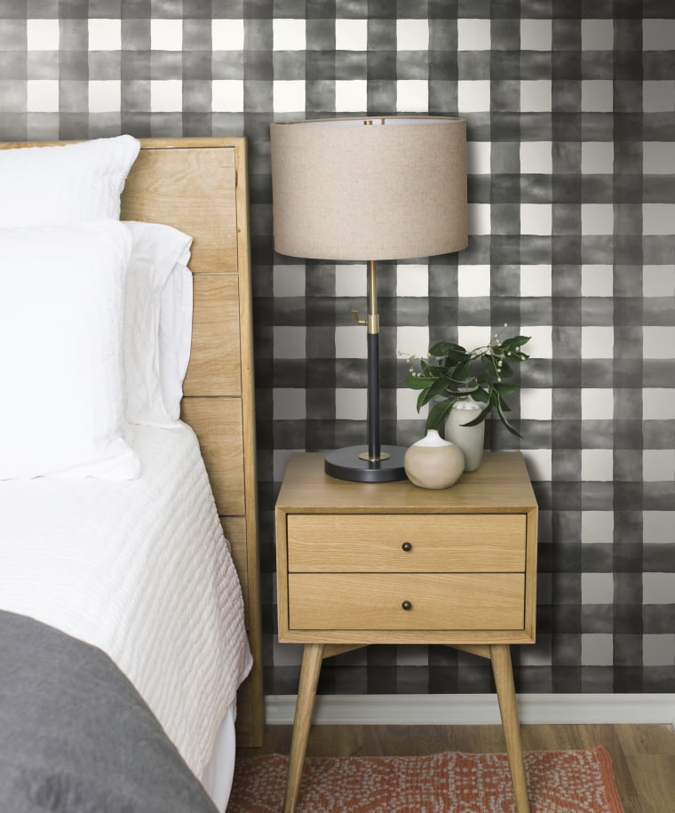 Black check: This casual take on gingham is dreamy as it is decorative.