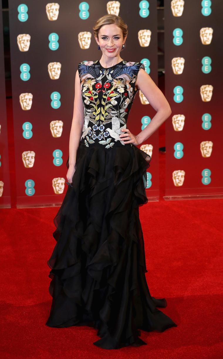 Emily Blunt Alexander McQueen BAFTAs