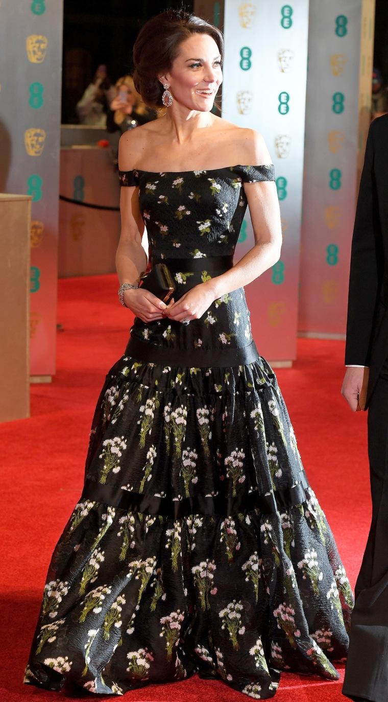 Kate Middleton Duchess of Cambridge Alexander McQueen BAFTAs