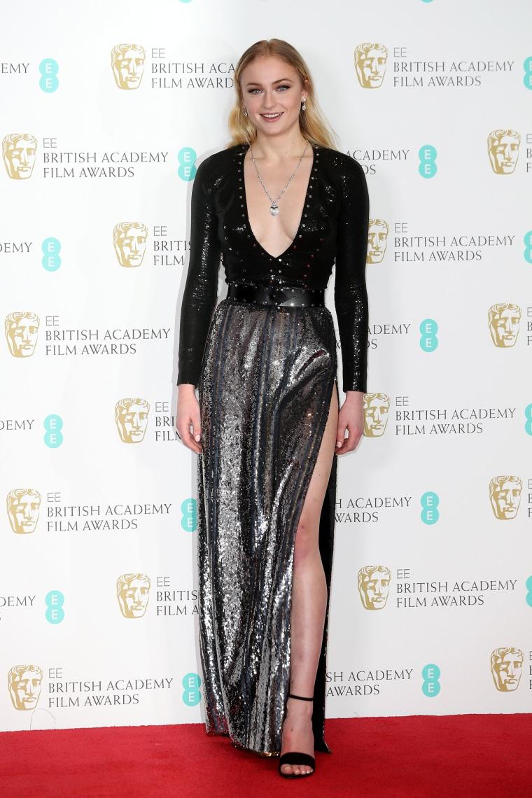 Sophie Turner Louis Vuitton BAFTA