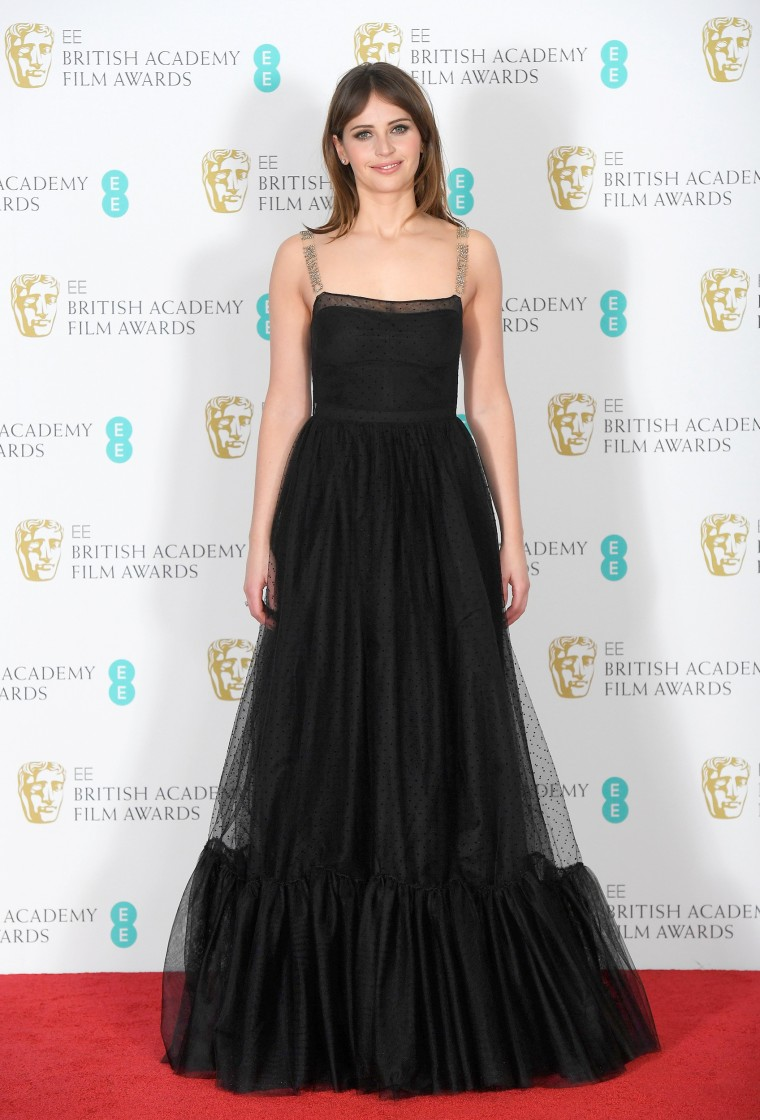 Felicity Jones Christian Dior BAFTA