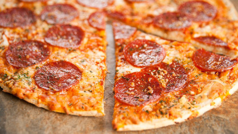 Thin Crust Pepperoni and Cheese Pizza