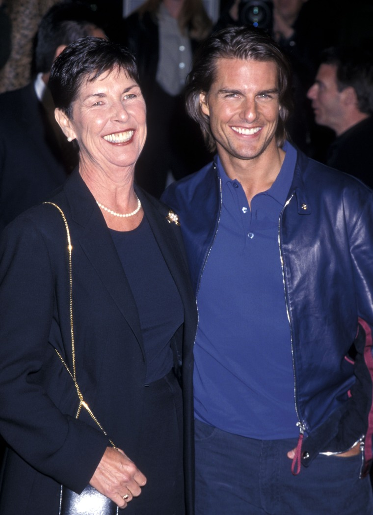 Actor Tom Cruise and mother Mary Lee South